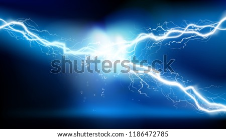 Heat lighting. Energy of electric discharge. Vector illustration.