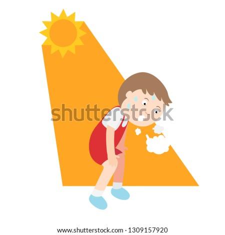 Heat stroke,vector illustration.