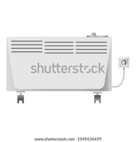 Heater equipment mockup. Realistic illustration of heater equipment vector mockup for web #1049636699