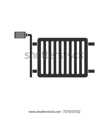 Heating radiator black simple silhouette icon vector illustration for design and web isolated on white background. Heating radiator vector object for label web and advertising