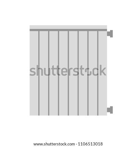 Heating radiator. Isolated on white background. Vector illustration. #1106513018