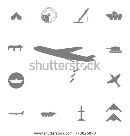 heavy bomber with bombs icon