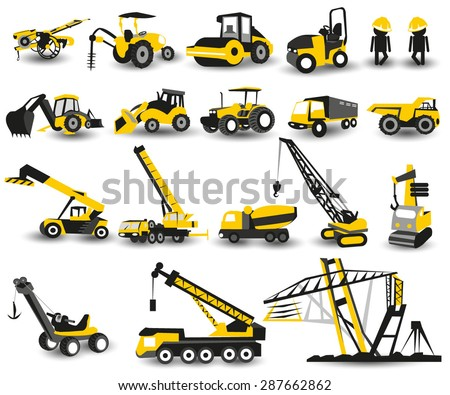 heavy construction machines