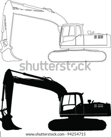 Heavy duty construction equipment - vector