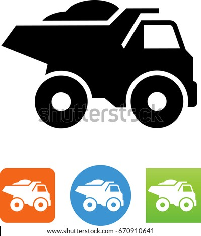 heavy duty dump truck icon