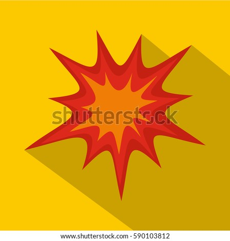 Heavy explosion icon. Flat illustration of heavy explosion vector icon for web
