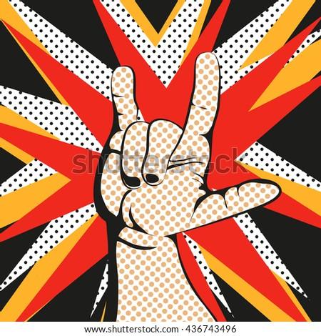 heavy metal hand gesture hand