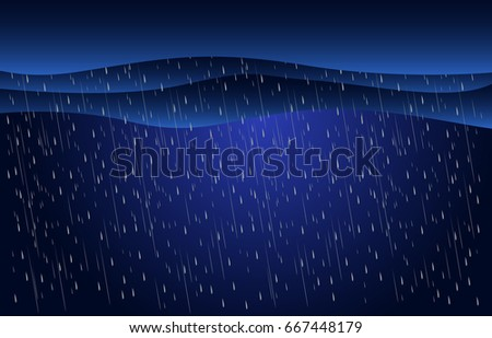 heavy rain in dark sky  rainy