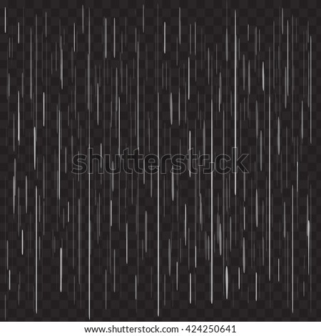 heavy rain vector on black
