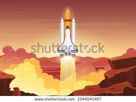 heavy rocket launch vector
