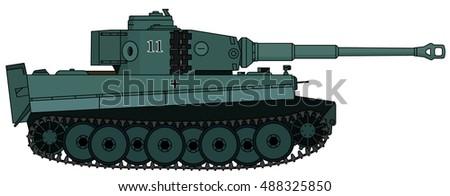 heavy tank  vector illustration