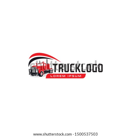heavy truck logo. flat heavy truck illustration - Icon design vector heavy truck