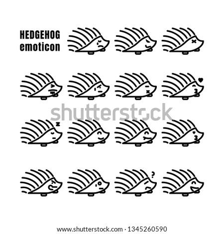 hedgehog expression emoticon