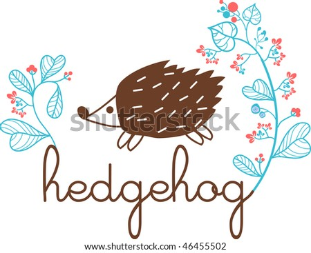hedgehog text and bone wallpaper design