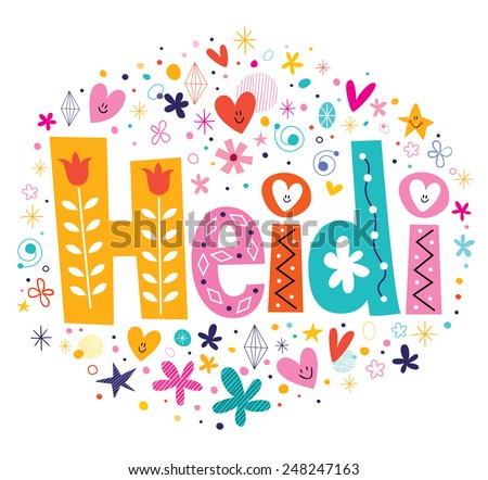 heidi girls name decorative