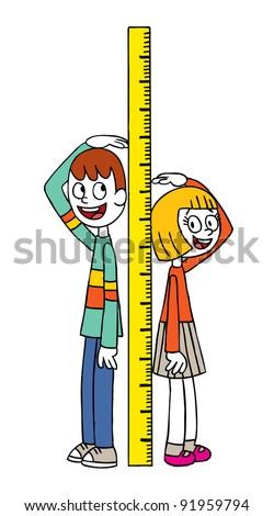 Height measure - stock vector