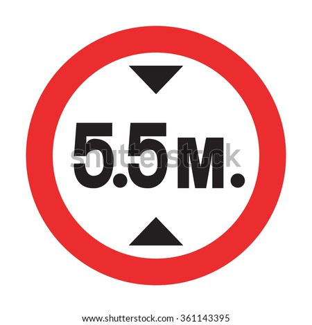 Height Restriction Sign