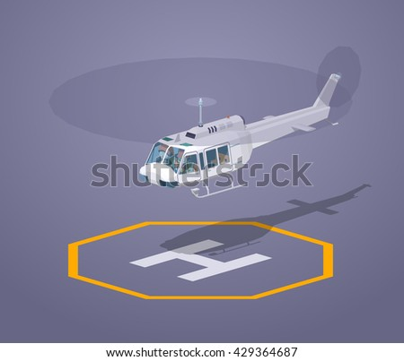 heli pad against the purple