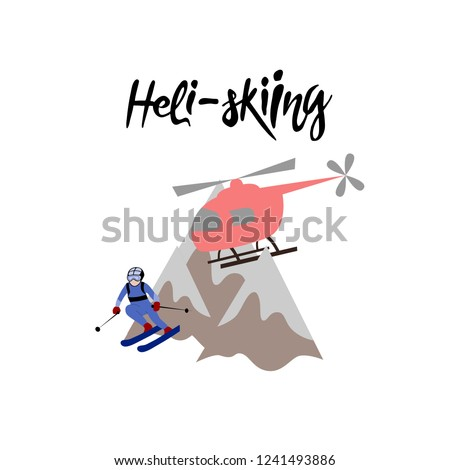 heli skiing heliskiing flat