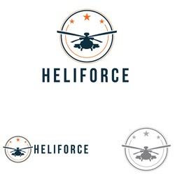 Helicopter Air Force Star and Drone Circle Symbol