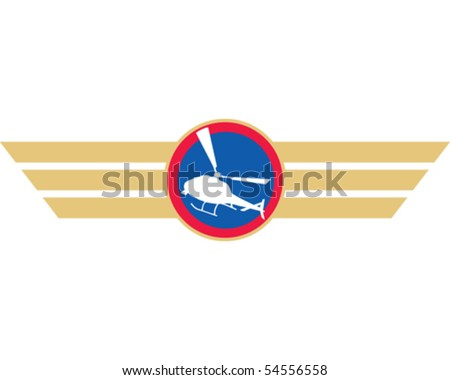 Helicopter Badge