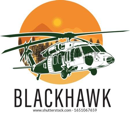 helicopter blackhawk logo