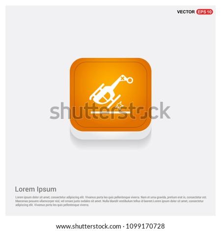 helicopter crash icon orange