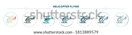 helicopter flying icon designed