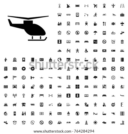 Helicopter icon illustration isolated vector sign symbol. airport icons set for web and mobile.