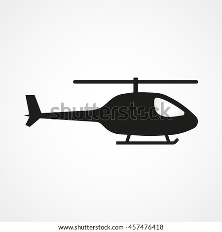 Helicopter icon isolated on background. Modern flat pictogram, business, marketing, internet concept. Trendy Simple vector symbol for web site design or button to mobile app. Logo illustration