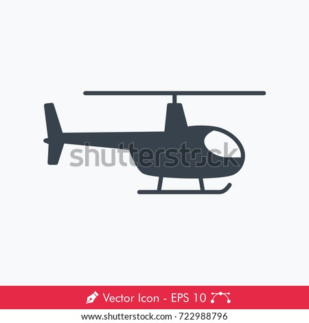 Helicopter Icon / Vector