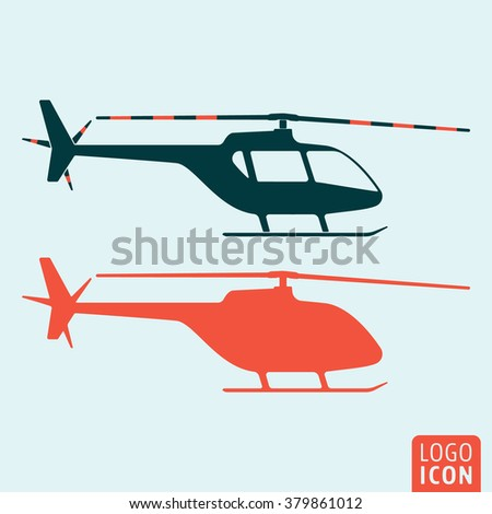 Helicopter icon. Vector illustration