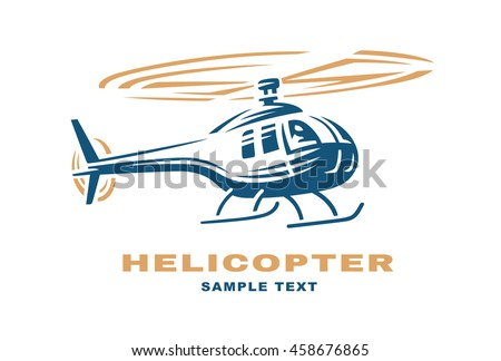 Helicopter logo design illustration