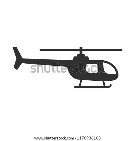 Helicopter. monochrome icon