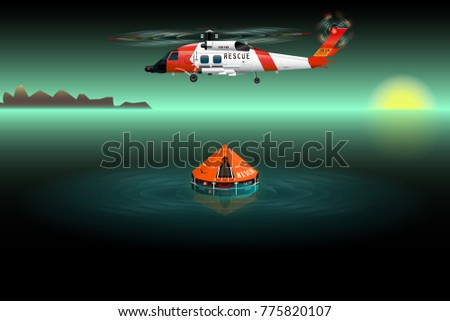 helicopter of rescuers left