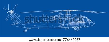helicopter outline military
