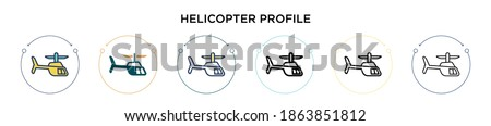 helicopter profile icon in