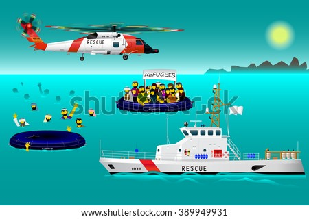 helicopter rescue teams and