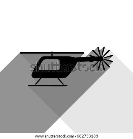 helicopter sign illustration