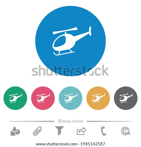 helicopter silhouette flat