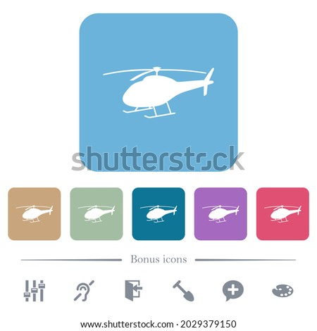 helicopter silhouette white