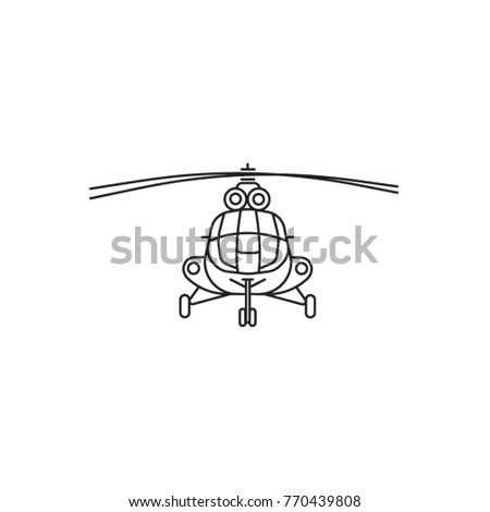 Helicopter vector icon. Russian helicopter vector. Helicopter design