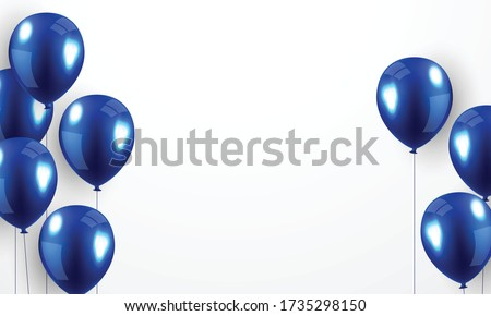 Helium balloon, realistic blue 3D design For decorating festivals, festivals-parties.