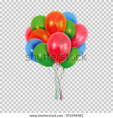 helium balloons set birthday
