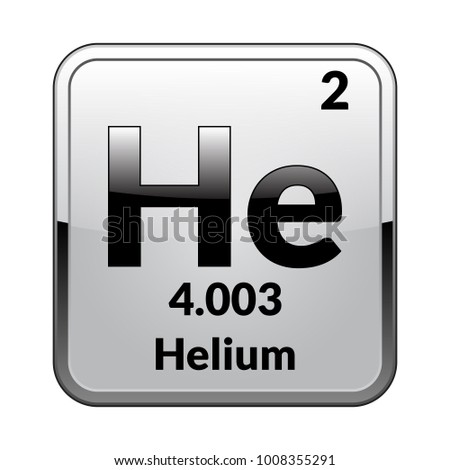 Helium Symbolemical Element Of The Periodic Table On A Glossy