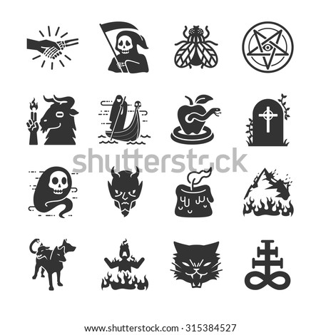 hell and evil icon included
