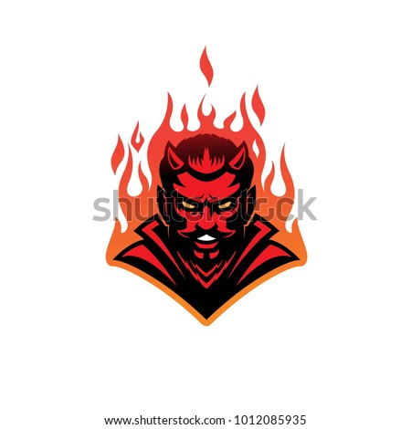 hell devil modern logo mascot