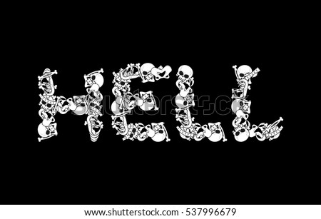 hell typography letters from