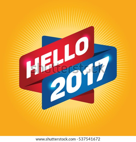 hello 2017 arrow tag sign