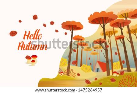 hello  autumn autumn card